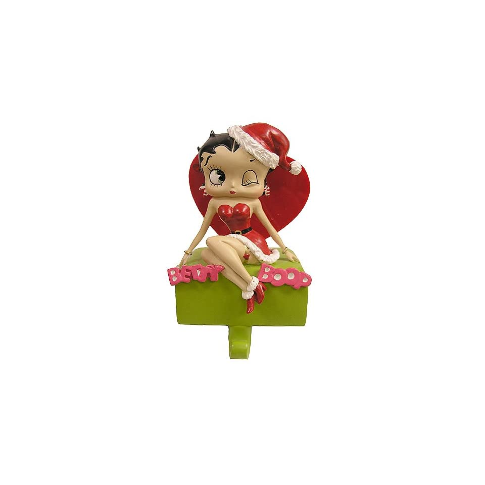 Sexy Betty Boop In Santa Hat Christmas Stocking Holder