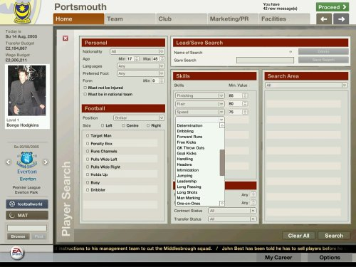 FIFA Manager 06  screenshot
