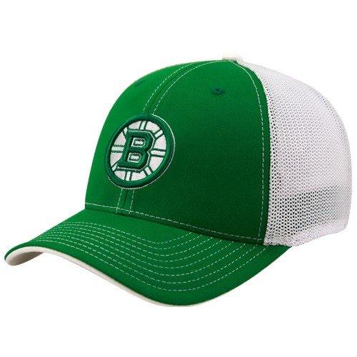 f2670df97ab588 Reebok Boston Bruins Kelly Green St. Patrick's Day Structured Mesh Back Flex  Fit Hat