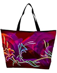 Snoogg Abstract Flower Designer Waterproof Bag Made Of High Strength Nylon