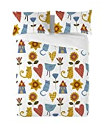 EUROMODA HOME LIVING Juego De Funda Nórdica Randers (Blanco/Multicolor)