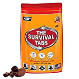 Survival Tabs 2-day Food Supply 24 Tabs Emergency Food Ration Survival MREs Meals Ready-to-eat Bugout Emergency Food Replacement for Travel Camping Boating Biking Hunting Outdoor Activities Also Disaster Preparedness for Earthquake Flood Tsunami Gluten Free and Non-GMO 25 Years Shelf Life Long Term Food Storage - Chocolate Flavor