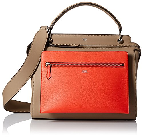 Fendi-Womens-Dotcom-Handbag-BrownOrange
