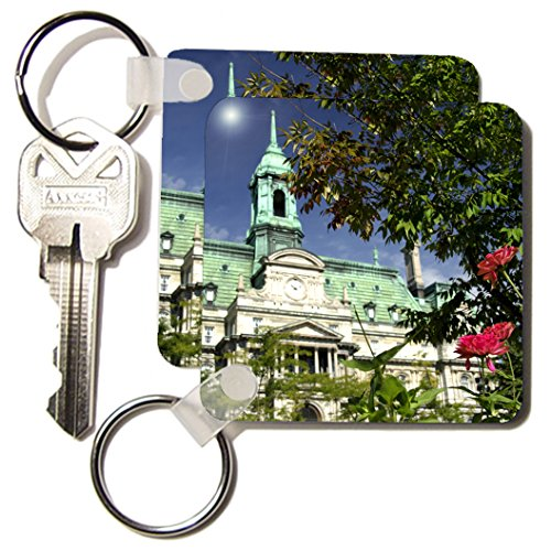 3Drose Quebec, Montreal, Jacques Cartier Square, Cindy Miller Hopkins Key Chains, Set Of 2 (Kc_73550_1)