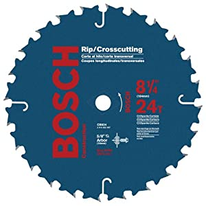 Bosch CB824 8-1/4-Inch 24 Tooth ATB Crosscutting and Ripping Saw Blade with 5/8-Inch Arbor