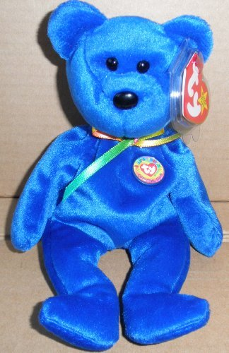 1 X TY Beanie Babies Clubby Bear Plush Toy Stuffed Animal