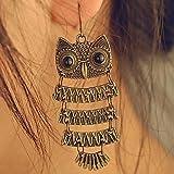 European and American fashion wild retro owl Drop Earrings E38