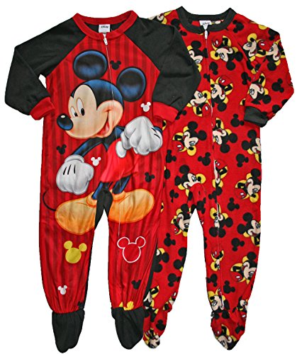 Mickey Mouse Set Of 2 Little Boys Blanket Sleeper Pajamas (2T) front-103431