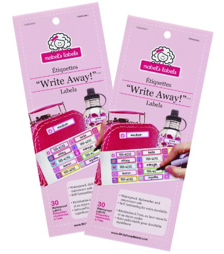 """Mabel'S Labels """"Write Away"""" Self-Laminating Labels, 60 Labels - Girl front-562898"""