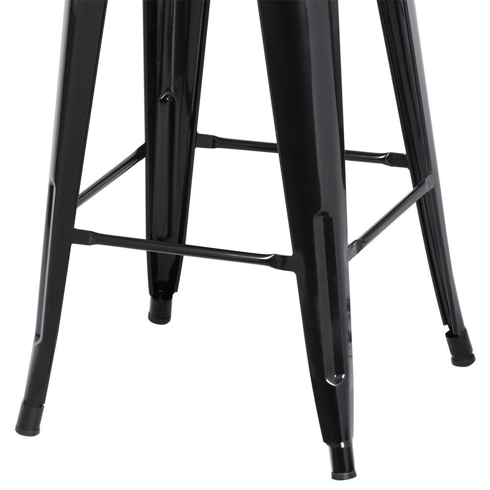 go2buy 6 PCs 26'' Metal Frame Bar Stools Vintage Counter Bar Stool Heavy Duty Black 6