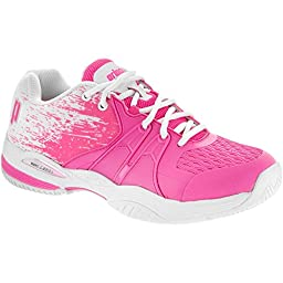 Prince Women\'s Warrior Lite Tennis Shoe-Pink/White-7.5