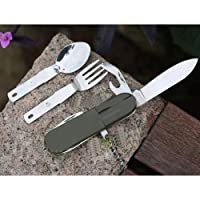 Military Cooking Sets of Knife/Fork/Spoon/Bottle Opener