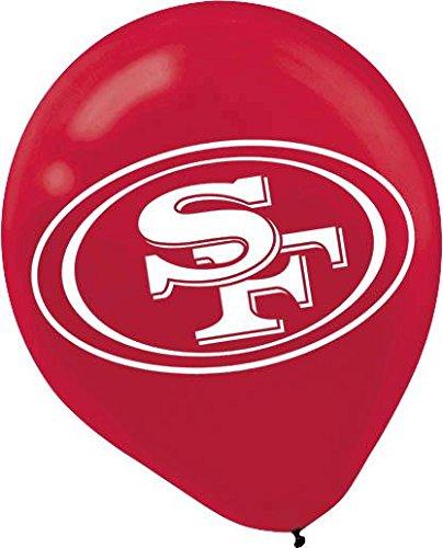 latex balloons - san francisco 49ers