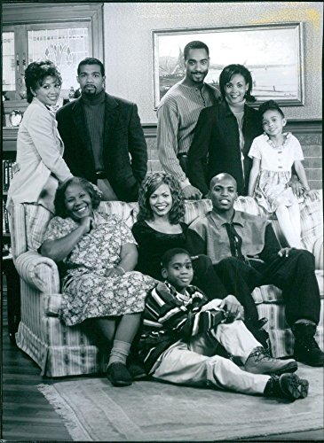 Vintage Foto Di Vanessa Williams, Michael spiaggia, Jeffrey D. Sams, Vivica A. Fox, Morgan Michelle Smith, Irma Hall, Brandon Hammond, Nia long e Mekhi Phifer Star in Soul Food.