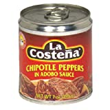 La Costena Chipolte Peppers in Adobo Sauce, 7-Ounce Can (Pack of 8)