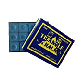 Triangle Snooker or Pool Cue Chalk (Blue, 12 Pack)