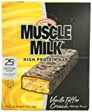 CytoSport Muscle Milk 73 g Vanilla Toffee Crunch High Protein Bars - Box of 8