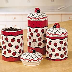 Http Amazon Co Uk Ladybug Canisters Party Decorations Decor Dp B0082c5qzm