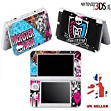 GIRLS MONSTER Vinyl Skin Sticker For Nintendo 3DS XL Console Vinyl Skin Cover In A Retail Pack. Ready For Fast 1st Class UK Post.