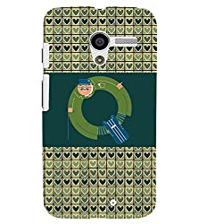 FUSON 3D Designer Back Case Cover for MOTOX D9785