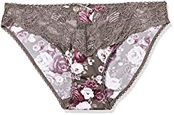 Bwitch Women's Cotton Panty (BW030-0069_Latte and Rose Print_Large)
