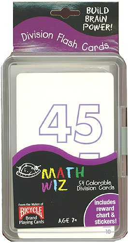 Buy 54 Colorable Division Flash Cards with Reward Chart and Stickers.