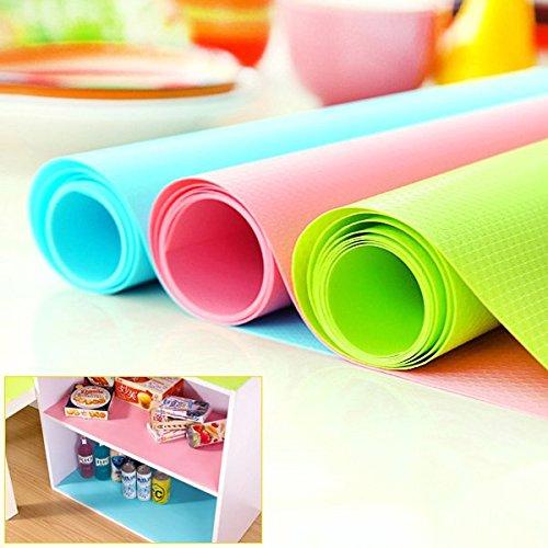 Bleulover Antimicrobiens humidité papier Pad armoires à tiroirs Antidérapante Mat Armoire Green Mat