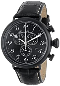 Lucien Piccard Men's LP-72414-BB-01-SA Trieste Analog Display Swiss Quartz Black Watch