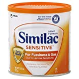 Similac Sensitive Infant Formula, for Fussiness and Gas, With Iron, Powder, Birth to 12 Months, 12.6 oz.