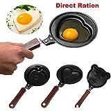 HOMEBUDDY Design Non Stick Omelette Mini Egg Frying Pan - Mini Poele (Design May Very)