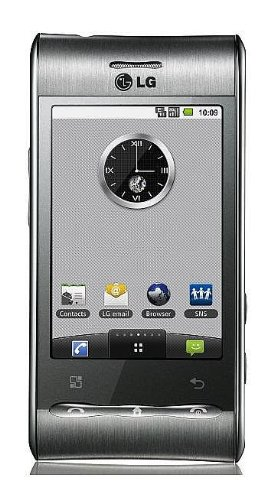 LG Optimus GT540 Unlocked GSM Quad-Band Phone with 3 MP Camera, Android OS, Touch Screen, Wi-Fi, Bluetooth -No Warranty – Titanium Silver