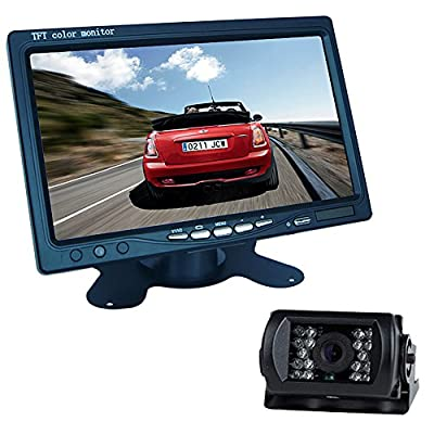 "Buyee 7"" LCD Monitor Bus Lorry Car Rearview Waterproof Reversing Camera+10m video cable"