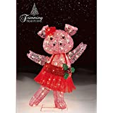 CHRISTMAS 32 IN DANCING TINSEL PIG WITH TUTU AND BOW OUTDOOR.INDOOR YARD DECORATION