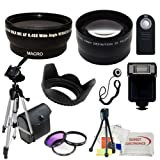 Ultimate Accessory Bundle Kit For Canon Rebel T1i - T2 - T3i - T4i - T5i - T6i - T6s - SL1 - 60D - 70D - 7D - 7D Mark II Digital SLR Cameras (Which Have the Following Canon Lenses - 18-55mm - 55-250mm - 75-300mm - 50mm 1.4) Includes - 0.43x Wide Angle Lens - 2.2x Telephoto Lens - 3 Piece Professional Filter Kit (UV+CPL+FLD) - Slave Flash - Wireless IR Shutter Remote - 50