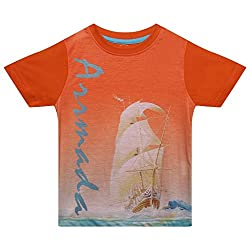 Boys round neck Arrmada printed tshirt
