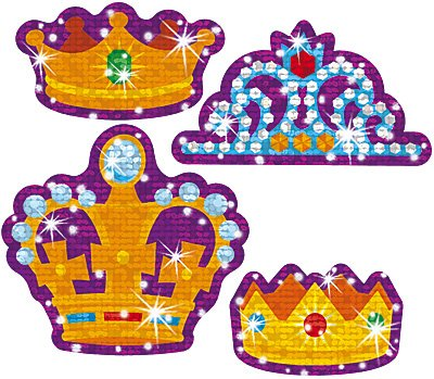 Crowning Moments Sparkle Stickers-Large