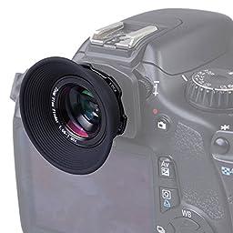 Prost 1.08x-1.60x Zoom Viewfinder Eyepiece Magnifier for Canon Nikon Pentax Fujifim Samsung Sigma Sony Olympus Minoltaz Dslr Camera (Black)