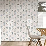 Duck Egg / Blue / White - 50-615 - Sketch Floral - Graham & Brown Wallpaper