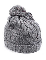Marl Cable Knit Bobble Hat
