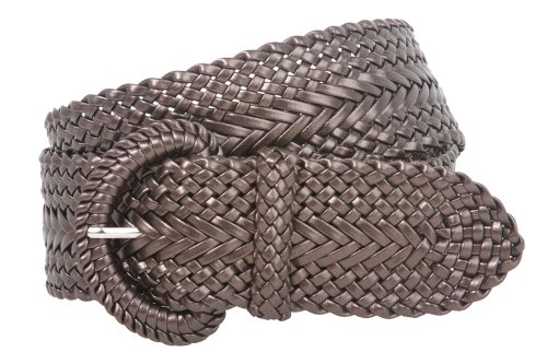 2 Inch Wide Hand Made Soft Metallic Woven Braided Round Belt Color: Bronze Size: M/L - 41 END-TO-END