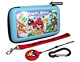 New Angry Bird 3d Gamer Carry Case Set For Nintendo Dsi-3ds (4pc) & Carabiner
