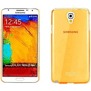 Snoogg Samsung Galaxy Note 3 Neo AirIce Series Super Thin Soft TPU silicon Cover in Orange