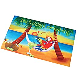 Five O\'clock Somewhere Tropical Parrot Mat