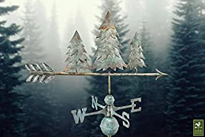 Good Directions 625V1 Pine Trees Weathervane, Blue Verde Copper by Good Directions, Inc.