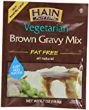 Hain Pure Foods Vegetarian Brown Gravy Mix, .7-Ounce Packets (Pack of 24)