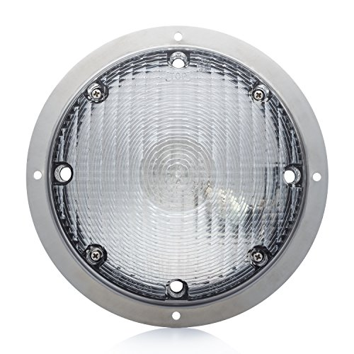 Lumitronics Surface Mount Porch Scare Light w/ Mounting Gasket - Stainless Steel Silver Base (Rv Exterior Lights compare prices)