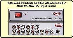 MCBS Video-Audio Distribution Amplifier / Video-Audio Splitter (MVA-104) Deluxe