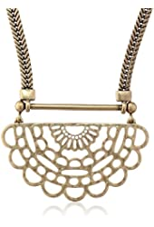 "Lucky Brand ""Adorn You"" Mixed Media Openwork Necklace, 2"""