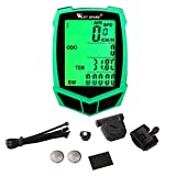 West Biking Bike computer, Wireless & Wired Bicycle Speedometer,Waterproof Cycling Odometer Large LCD Screen Display Multi Function West Biking