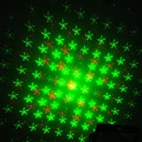 E-THINKER Mini Sound-active Red & Green Stage Lighting Light Projector MXS-002 for Party Clubs and Disco
